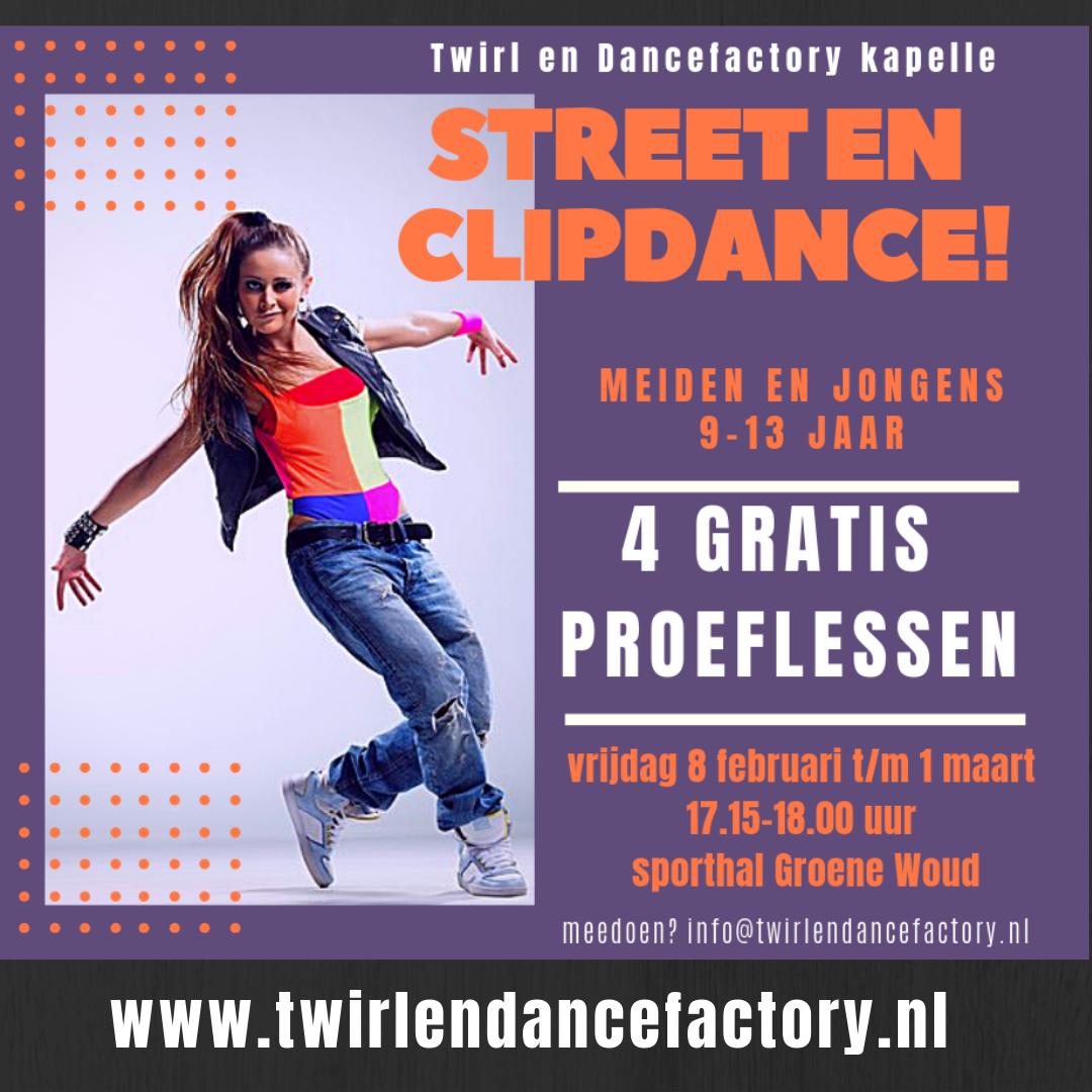 4 gratis proeflessen street-en clipdance